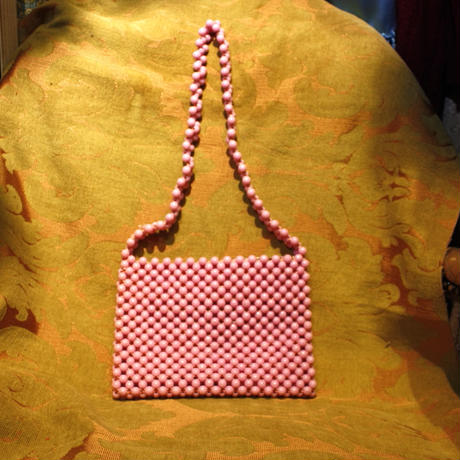 1960's Vintage【Lady Ellen】 Pink Beads Bag