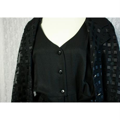 1980's Vintage【Dawa Joy Fashions】 Seethrough Orverall