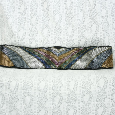 Vintage Rainbow Beads Belt