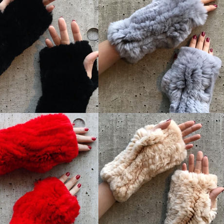 【Selected item】Rabbit fur gloves  / ラビットファーグローブ / mg-404