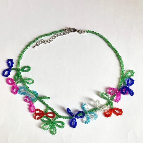 【Selected Item】Beads flower  choker / ビーズフラワーチョーカーネックレス / mg-360