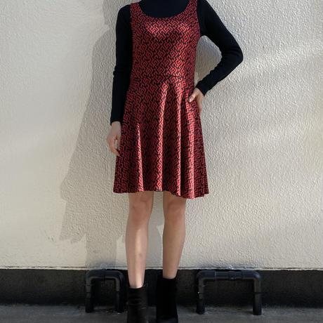 【Used】Black x red knit dress / 黒x赤ニットドレス