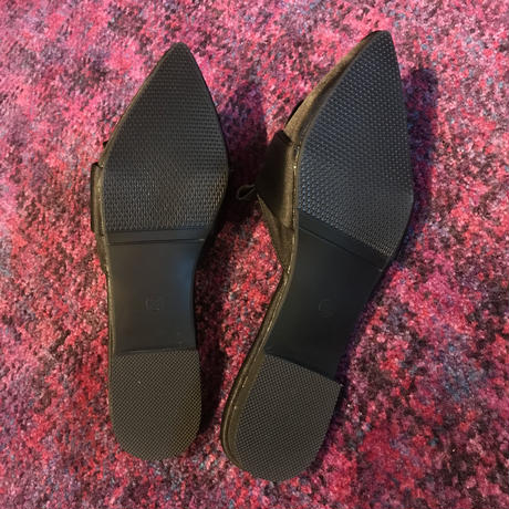 【Selected item】Satin Ribbon Sandal / black