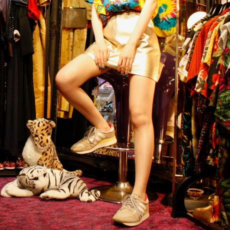 【migration】Fake leather mini skirt / フェイクレザーミニスカート / mg224