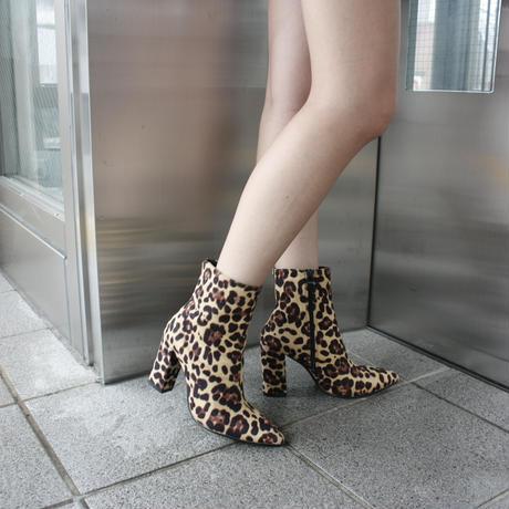 【Selected item】Python & Leopard short boots / レオパード パイソン柄ショートブーツ