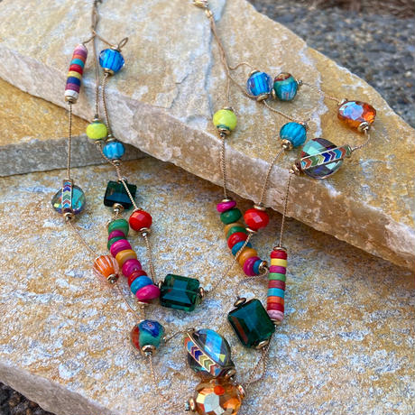 【Used】Colorful beads necklace / カラフルビーズネックレス