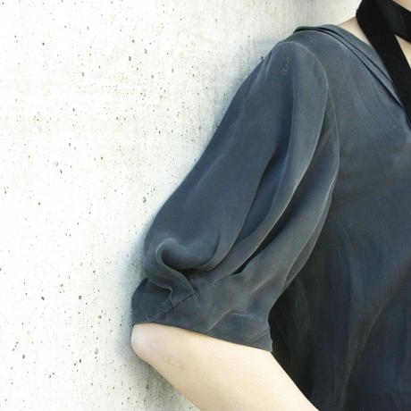 Black Silk Design Tops