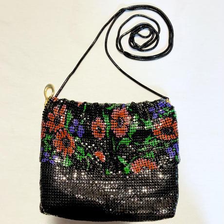 【Used Item】 Flower patten shoulder bag / メタルメッシュ花柄バッグ