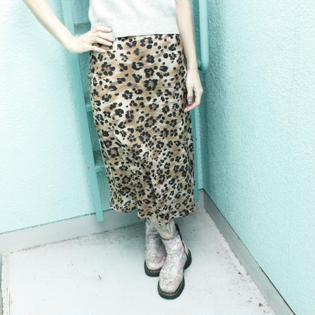 1980's Vintage【necessary objects】Leopard skirt