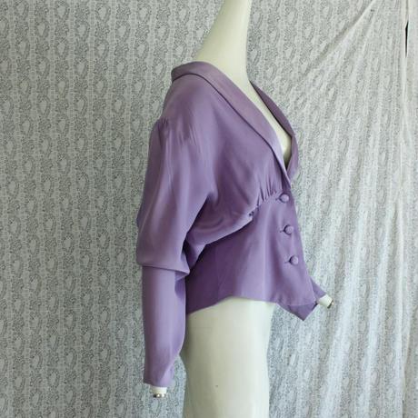 1980's Vintage Purple Silk blouse