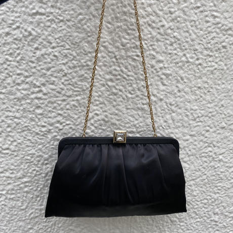 【Vintage】Satin chain hand bag / サテンチェーンバッグ