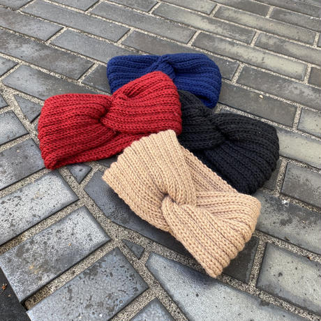 【Selected item】Knit hair band / ニットヘアバンド / mg732.