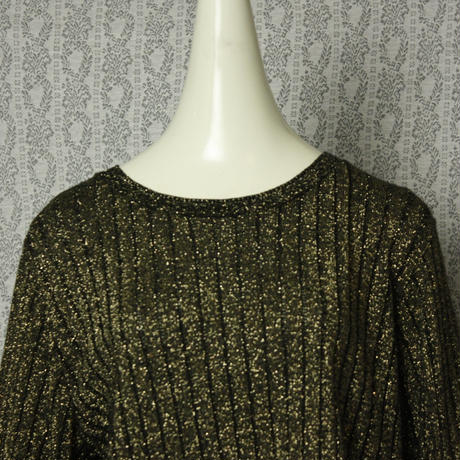Vintage【alfred dunner】 Gold rib tops