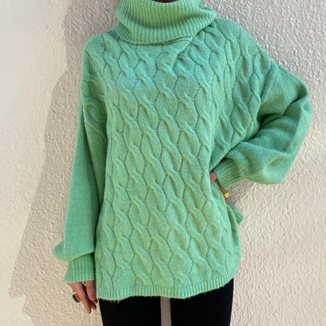 【Used】Mint green knit sweater / ミントグリーンニットセーター