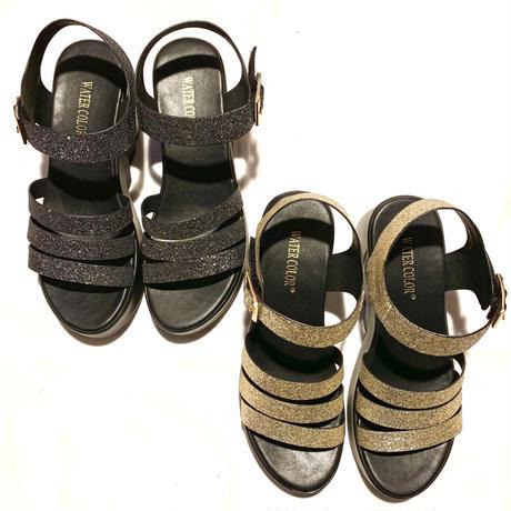 【Selected Item】Glitter strap sandal / グリッターストラップサンダル / mg-286
