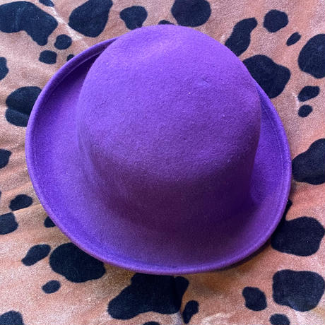 【Vintage】Purple derby hat / 紫山高帽