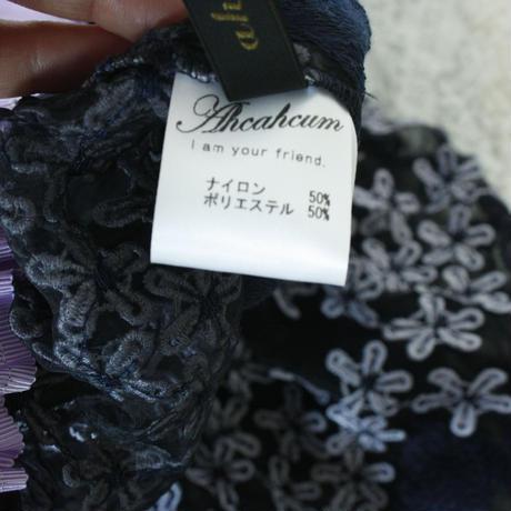 NEW 2017 S/S【AHCAHCUM/あちゃちゅむ】  お花刺繍ロングスカート