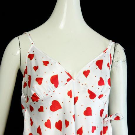 1980's Vintage Lingerie Heart Print Camisole