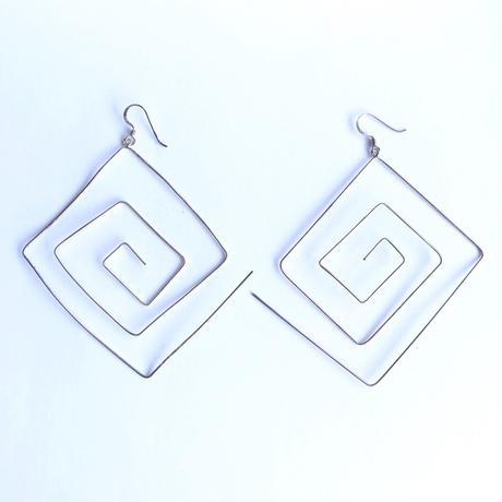 【Selected item】Square wire silver pierce / スクエアワイヤーシルバーピアス