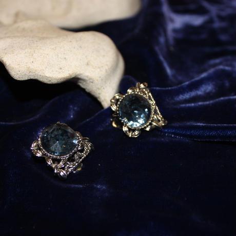 Vintage Blue Crystal Earring