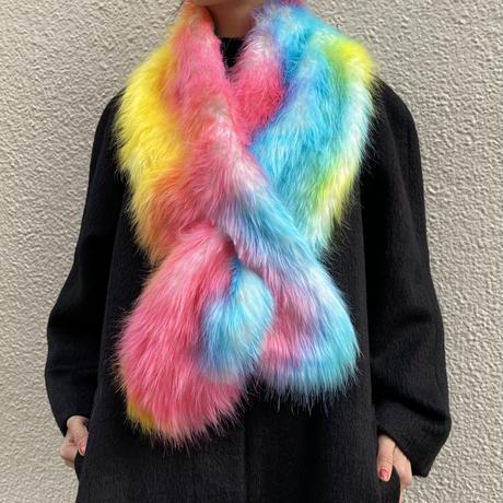 【Selected item】Fake fur stole / フェイクファーストール / mg702.