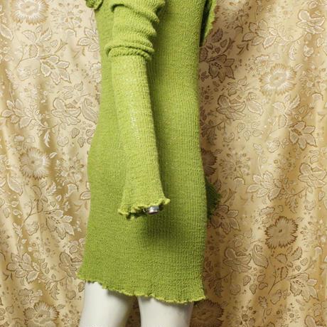 Vintage Design Knit Long Tops