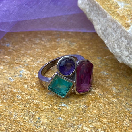 【Used】Bewitching Patchwork ring / 妖艶パッチワークリング
