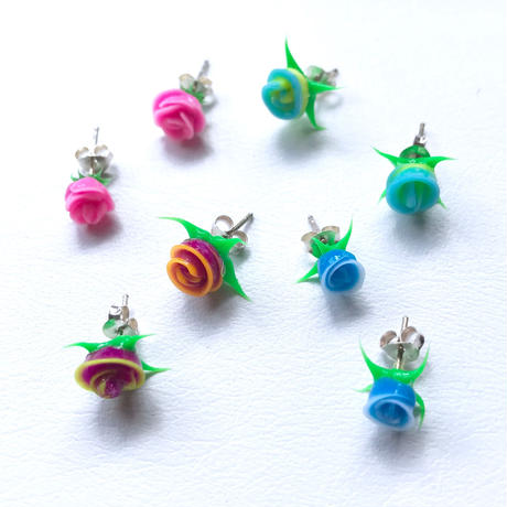 【selected Item】Mini rose silver pierce /ミニ ローズシルバーピアス