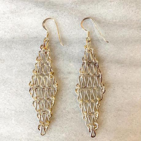 【Selected item】Silver 925 pierce/ダイヤ型ピアス