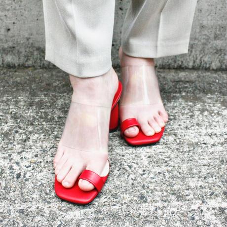 【Selected Item】Chunky heel clear design sandal  /  チャンキーヒールクリアデザインサンダル / mg-283
