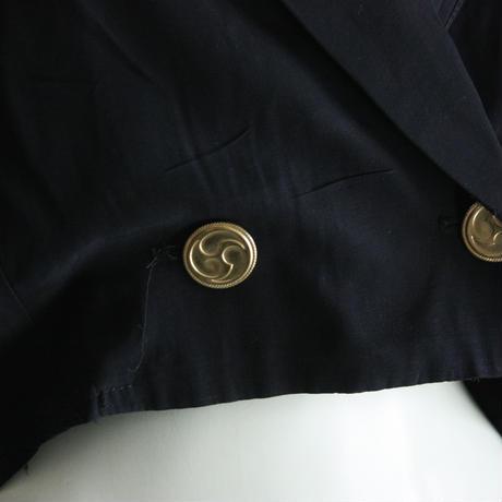 1980's Vintage【ALYN PAIGE】 Seethrough Double Jacket Blouse