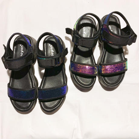 【Selected Item】aurora spangles tape sandal / スパンコールテープサンダル