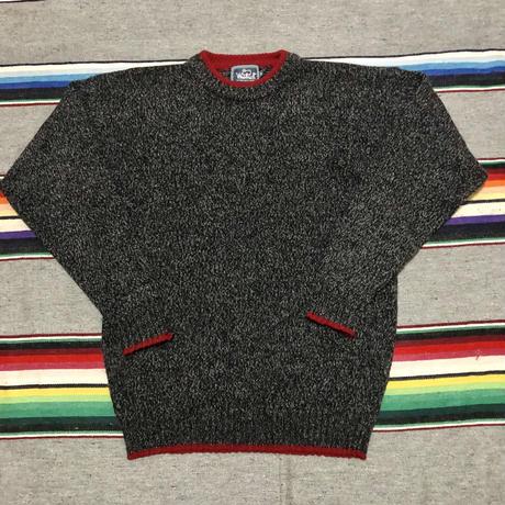 Wool rich ウール/ナイロン ニット
