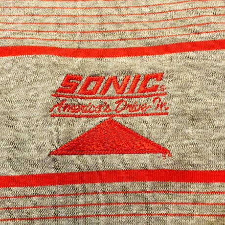Made in USA SONIC American Drive In ボーダーポロシャツ