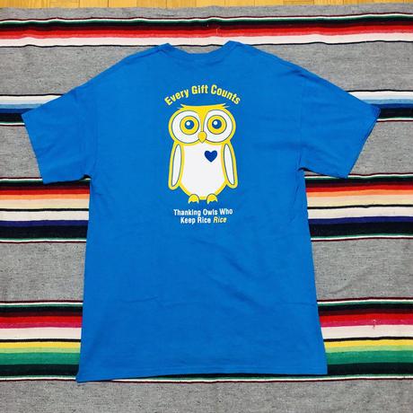 古着 フクロウ プリント Tシャツ