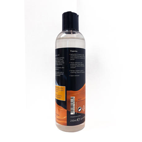 beGLOSS Clean & Care Leather 250ml ビーグロス レザークリーン & ケア 250ml オールインワン  お手入れ 専用 クロス付き 【税抜価格】¥2,900