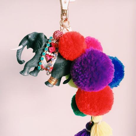 Elephant Pompon Tassel