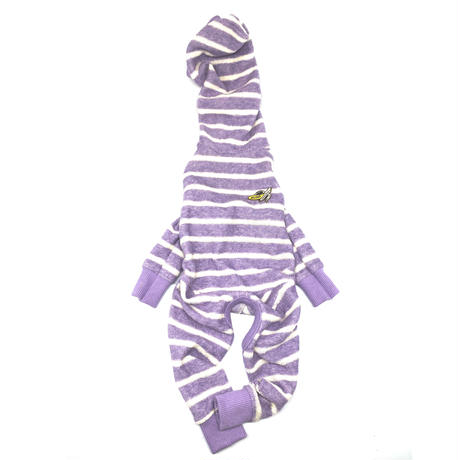 MY  HOLIDAY ROMPERS【border×purple】