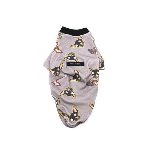 変なミニピンさんTシャツ【by Edo(Light gray)】