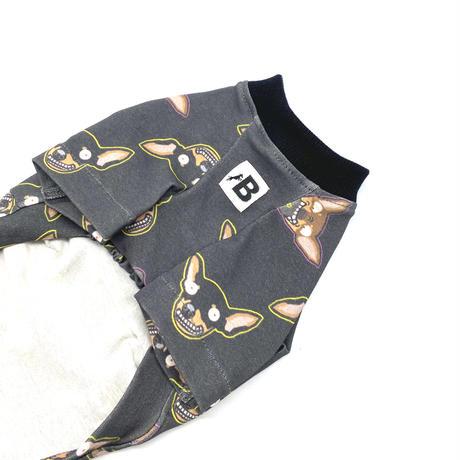 変なミニピンさんTシャツ【by Edo(dark gray)】