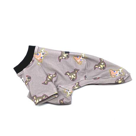 変なイタグレさんTシャツ【by Paisen(Light gray)】