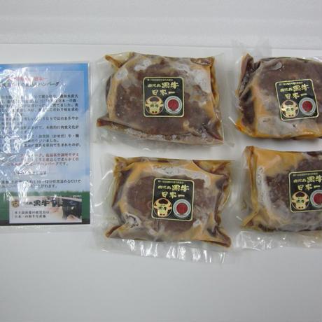 A1003 鹿児島黒牛の煮込みハンバーグ(4個)【送料無料】