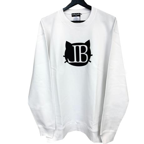 belle belle (ベルベル) BL cat Emblem トレーナー  ホワイト