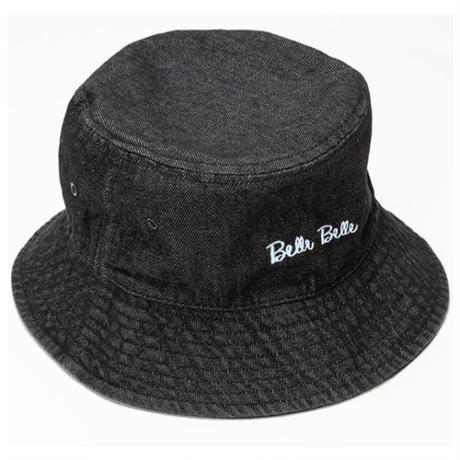 belle belle (ベルベル) Rogo バケットハット  ブラック (ホワイトロゴ)