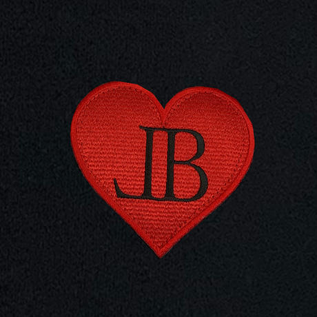 belle belle (ベルベル) BL heart Emblem  パーカー ブラック