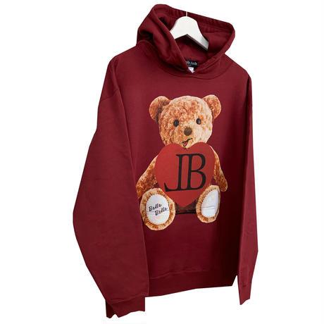 belle belle (ベルベル) Teddy bear heart パーカー ボルドー