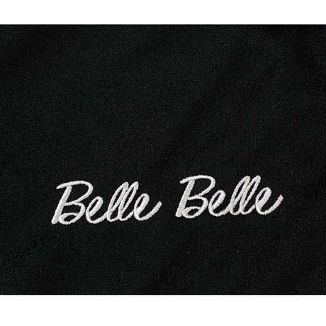 【数量限定】 belle belle (ベルベル) 上下 スエット belle ブラック ジャージセットアップ