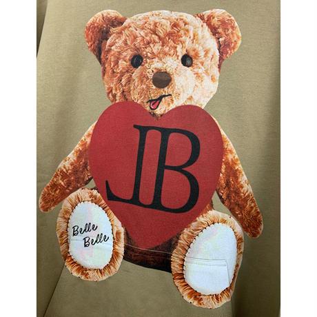 belle belle (ベルベル) Teddy bear heart パーカーベージュ