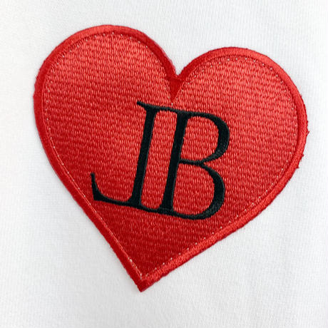 belle belle (ベルベル) BL heart Emblem  パーカー ホワイト