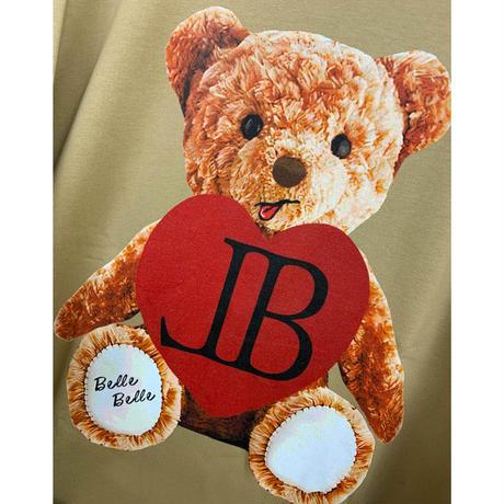 belle belle (ベルベル) Teddy bear heart トレーナー ベージュ